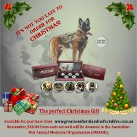 Australian War Dog coins make a great Christmas Present