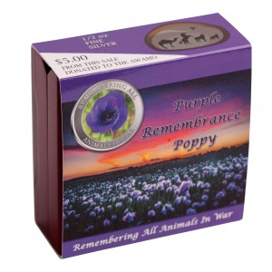Purple Poppy Bullion box in sleeve