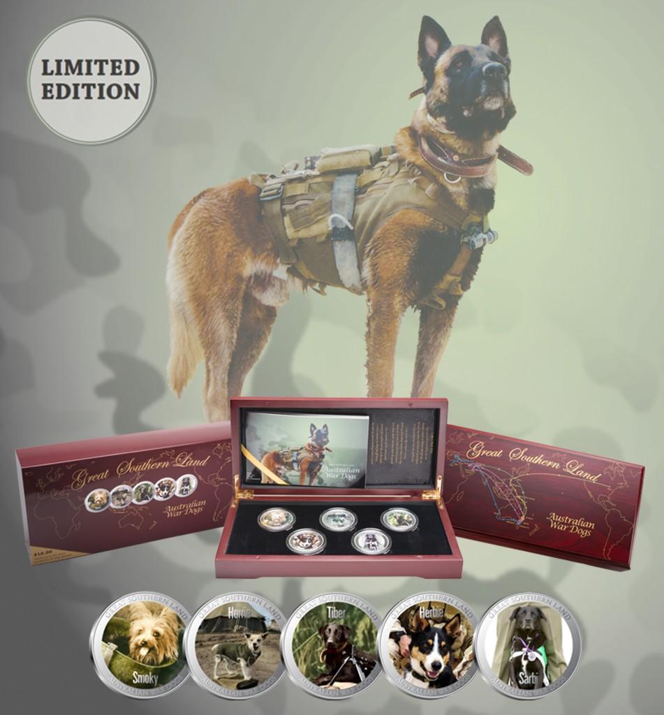 Australian War Dog Collectable Coin Set